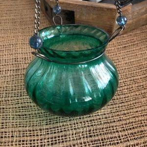 Hanging Glass Candleholder